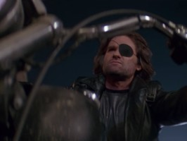 escape from la movie snake plissken rides motorcycle
